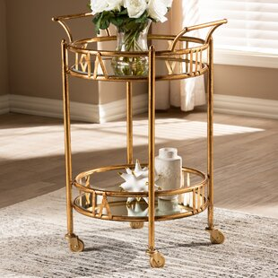 Elysian 2-Tier Mobile Bar Cart by Charlton Home