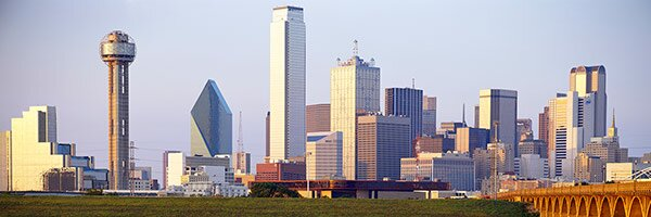 East Urban Home Buildings In A City Dallas Texas Wrapped Canvas Panoramic Photograph Print Wayfair