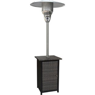 Square Wicker 41,000 BTU Propane Standing Patio Heater by Hanover