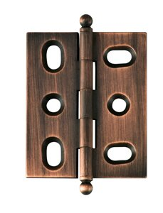 Solid Brass Inset Ball Tip Mortise Hinge (Set of 2)