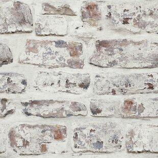 Rouleau De Papier Peint Simili Briques 34,45 Pi X 20,87 Po Alvara