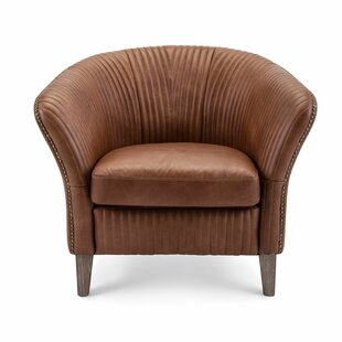 Dighton Leatherette Upholstered Barrel Chair by Everly Quinn