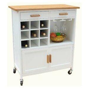 Oaken Kitchen Cart with Butcher Block
