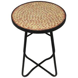 Brick Mosaic End Table by Urban Designs