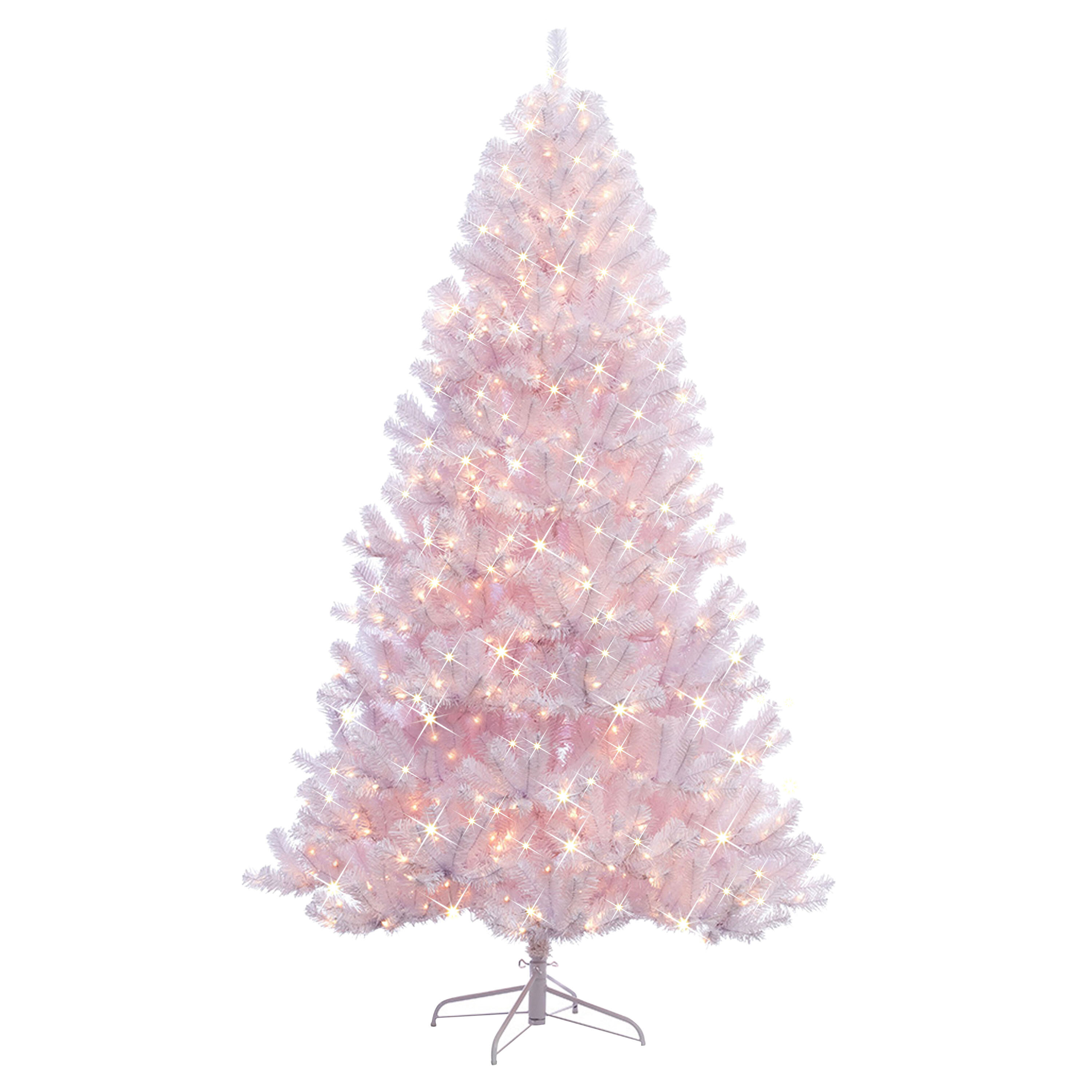 The Holiday Aisle Northern Artificial White Fir Trees Christmas Tree With Warm White Lights Reviews Wayfair