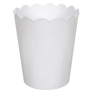 Hefty Scallop Plastic 2.3 Gallon Waste Basket (Set of 6)