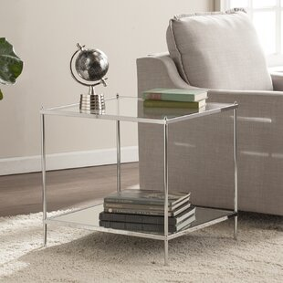 Look for Busey Bottom Shelf Glam Mirrored End Table By Latitude Run