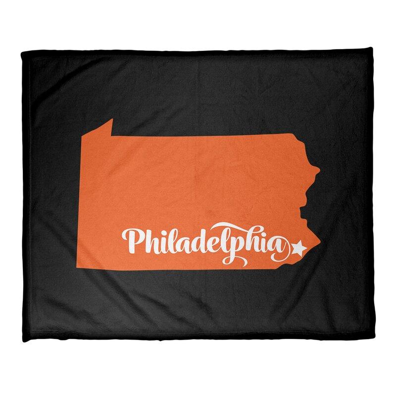 East Urban Home Philadelphia Sports Fleece Throw Wayfair