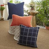 Midnight Tartan Acrylic Polyester Indoor/Outdoor Pillow