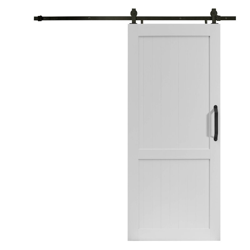 PVC Millbrooke Paneled Barndoor with Hardware