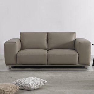 David Divani Designs Leather Loveseat