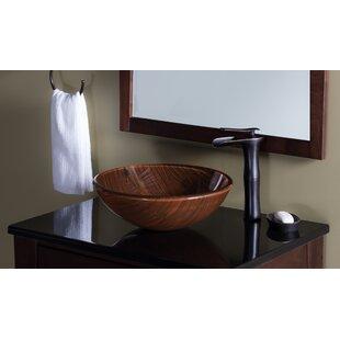 Look for Boschetto Glass Circular Vessel Bathroom Sink By Novatto