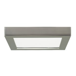 Price comparison Elzy Square 1-Light LED Flush Mount ByOrren Ellis