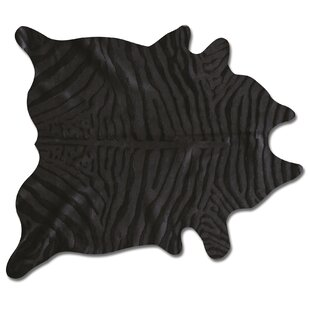 Comparison Baril Zebra Cowhide Black Area Rug ByFoundry Select