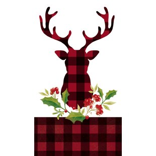 Rory Plaid Stag Hand Towel (Set of 15)