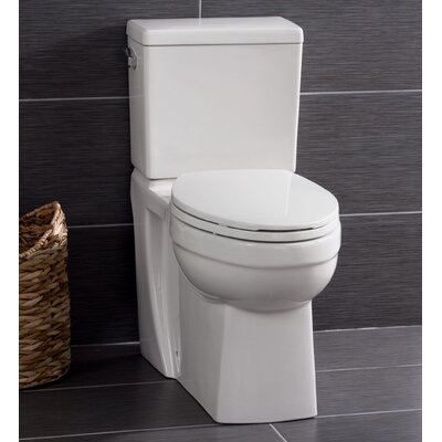 two in one toilet seat. High Efficiency ADA Height 1 28 GPF Elongated Two Piece Toilet Hometure Dual Flush One  Reviews Wayfair