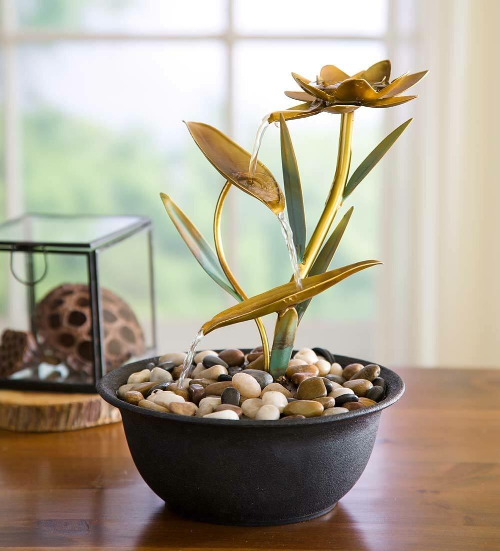 Wind weather metal lotus flower fountain reviews wayfair izmirmasajfo