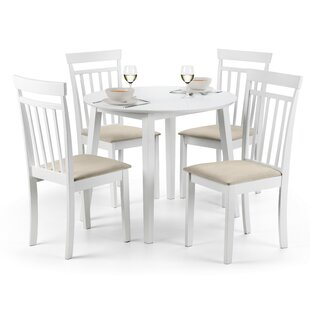 Inglewood Extendable Dining Set With 4 Chairs By Breakwater Bay