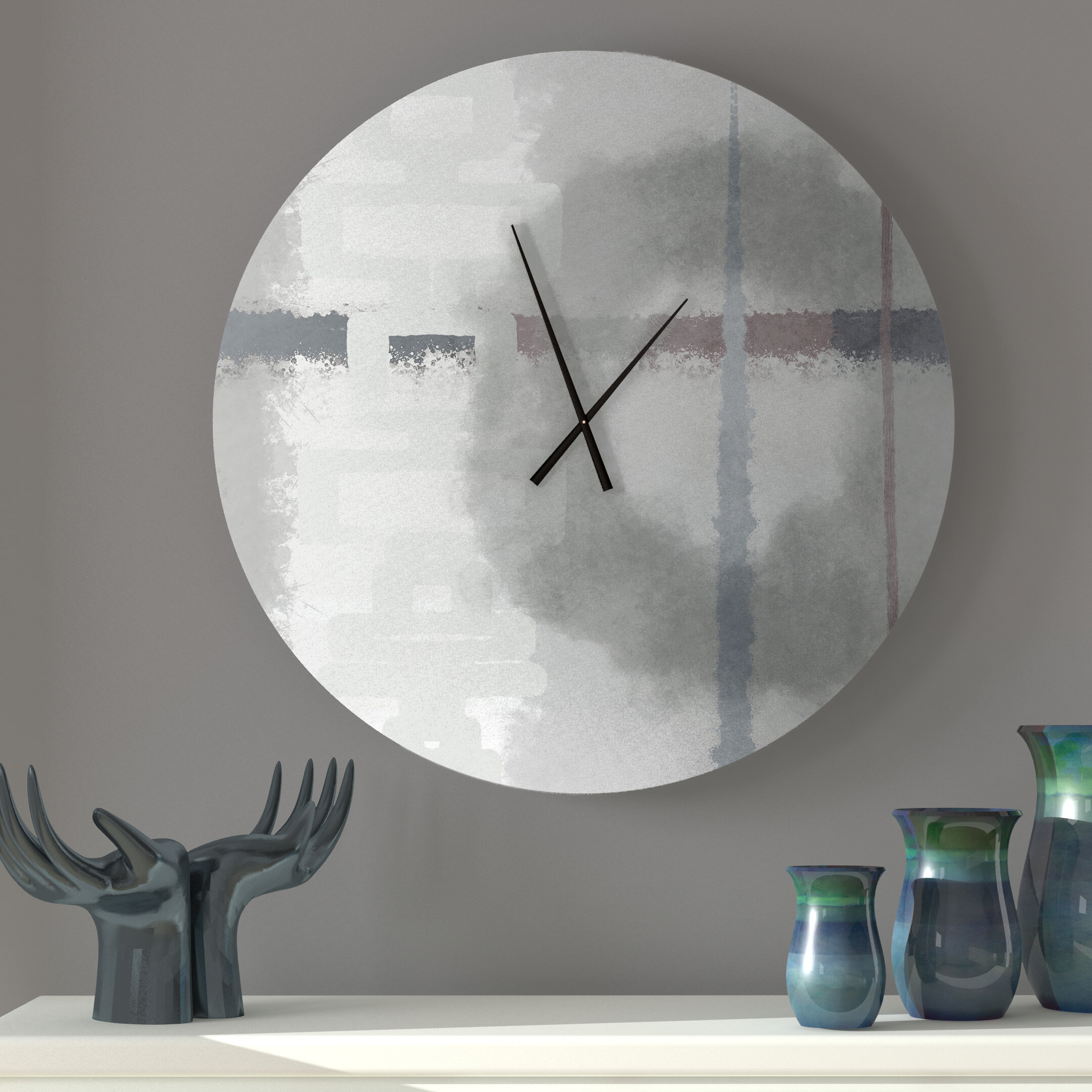 Latitude Run Paternal Large Abstract Metal Wall Clock Reviews Wayfair