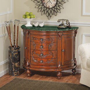 Carbonne Crescent Solid Marble Top Accent Chest by Design Toscano