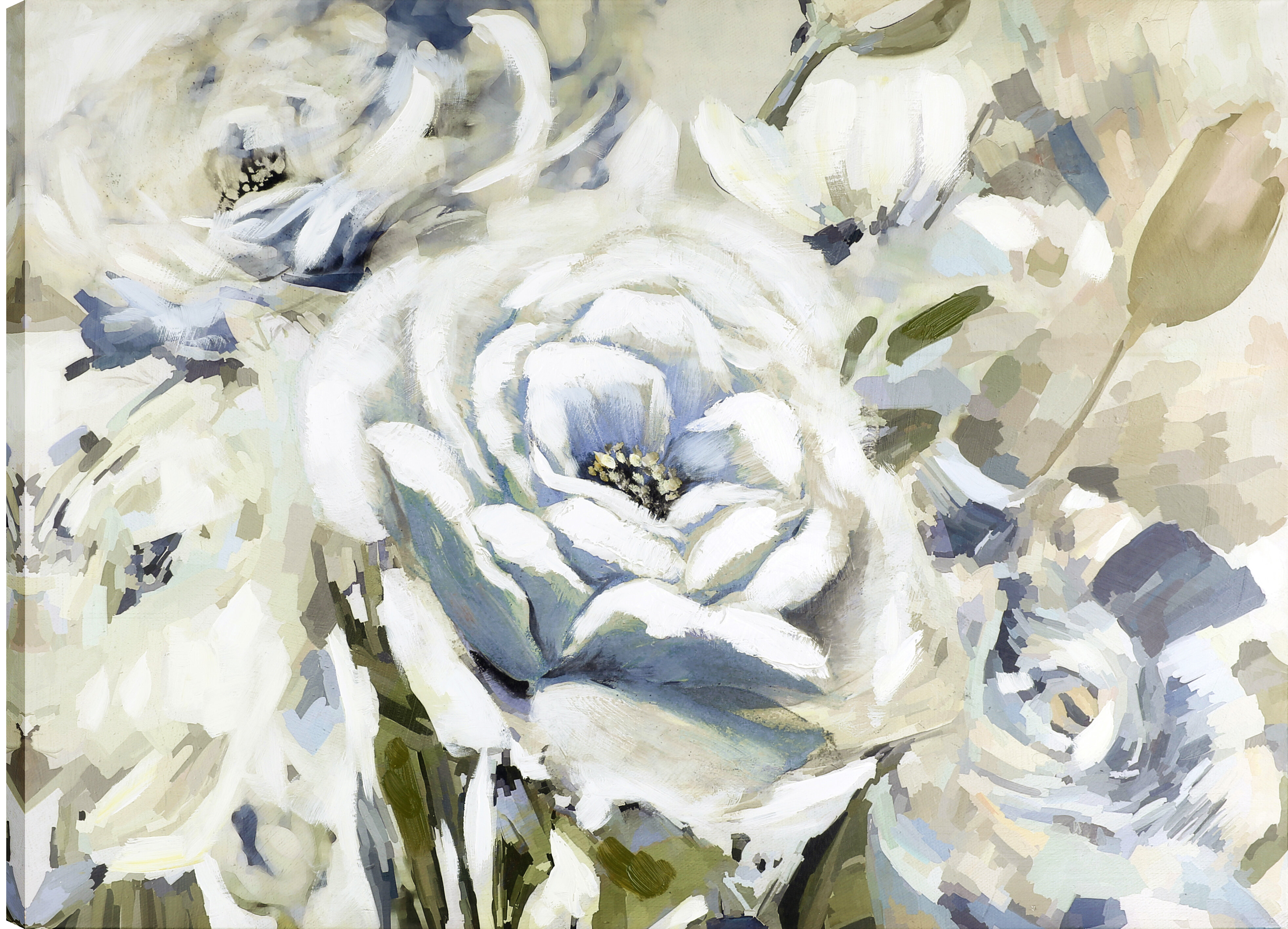Rosdorf Park The White Flower Ii Oil Painting Print On Wrapped