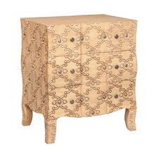 Marnie Carved 3 Drawer Accent Chest by House of Hampton