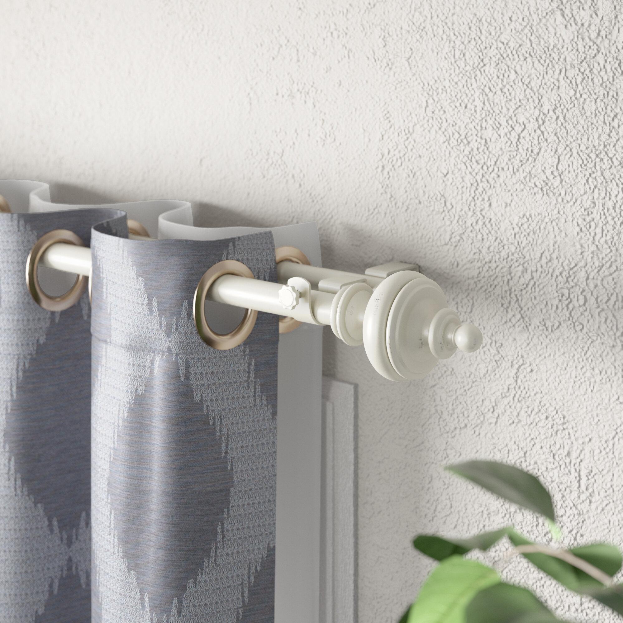 Oiled Branze Amber Adjustable Window Metal Curtain Rod w// Tough Polyresin Finial