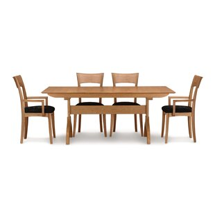 Sarah 5 Piece Extendable Solid Wood Dining Set by Copeland Furniture New
