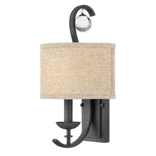 Wall Sconce With Fabric Shade Wayfair - Bathroom wall sconces with fabric shades