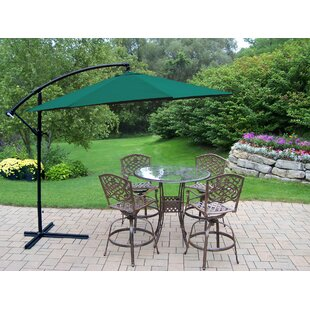Hummingbird Mississippi 6 Piece Bar Height Dining Set with Umbrella