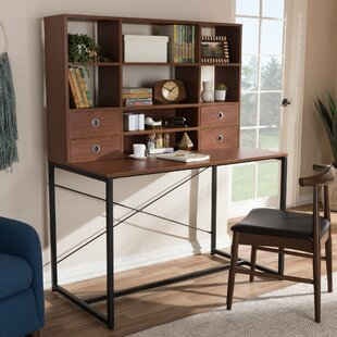 Ebern Designs Caufield Writing Desk with Hutch