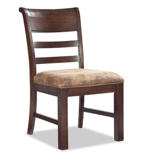 Alexandria Ladder Back Upholstered Dining Chair Loon Peak