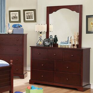 Colin 7 Drawer Double Dresser with Mirror