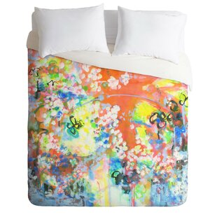 East Urban Home Coral Delight Duvet Cover Set