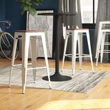 Jamar 30 Metal Bar Stools Wooden Seat (Set of 4) by 17 Stories