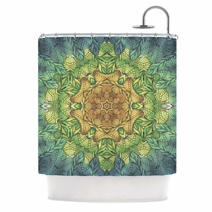 69 x 70 Green Multicolor Kess InHouse Miranda MOL Flourishing Green Shower Curtain