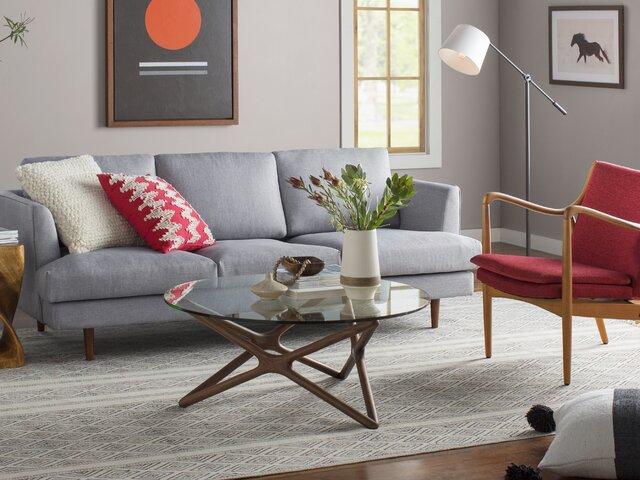 Fantastic Modern Blue Sofas Couches Allmodern Machost Co Dining Chair Design Ideas Machostcouk