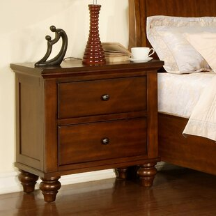 Verrett 2 Drawer Nightstand