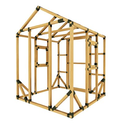 E-Z Frames 6' x 6' Playhouse Colour: Gold