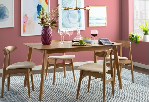 20 Pink Mid Century Modern Room Design Ideas Wayfair