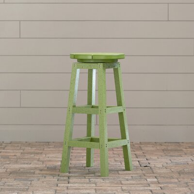Remarkable Alanna 31 Swivel Patio Bar Stool Beachcrest Home Frame Color Andrewgaddart Wooden Chair Designs For Living Room Andrewgaddartcom