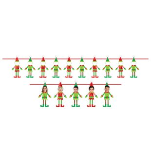 Craft banner wayfair christmas do it yourself elf banner set of 10 solutioingenieria Image collections