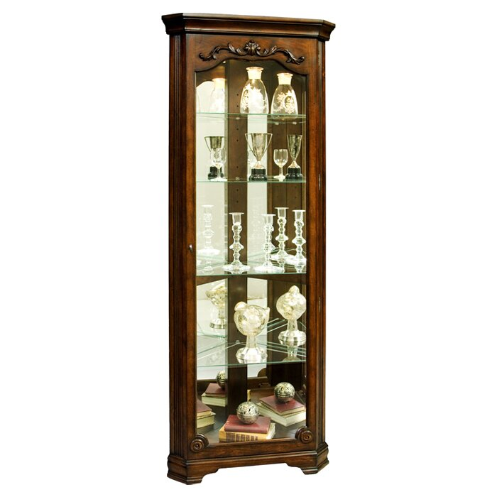 Kenric Lighted Corner Curio Cabinet Reviews Joss Main