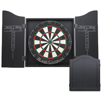 Black Canyon Dart Board Cabinet in Black