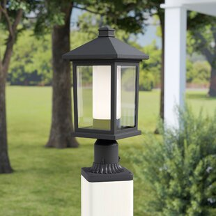 Check Prices Olive Outdoor 1-Light Rectangle Pier Mount Light By Andover Mills