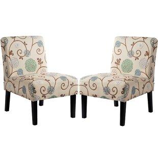 Check Prices Rivoli Slipper Chair (Set of 2) ByWinston Porter