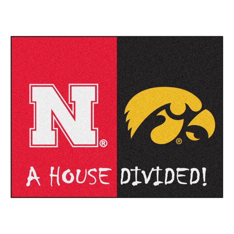 Fanmats House Divided Nebraska Iowa 42 5 In X 33 75 In Non Slip Indoor Only Door Mat Wayfair