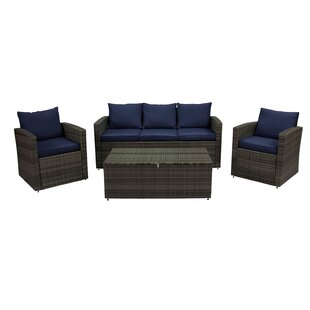 Looking for Quebec 4 Piece Rattan Sofa Seating Group By Ivy Bronx