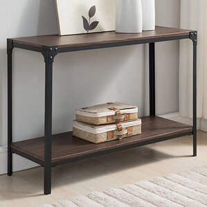 ajax woodmetal console table - Metal Console Table