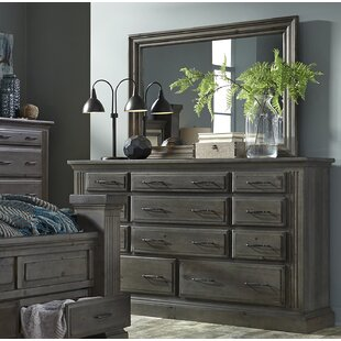 Pasley 11 Drawer Dresser with Mirror by Loon Peak